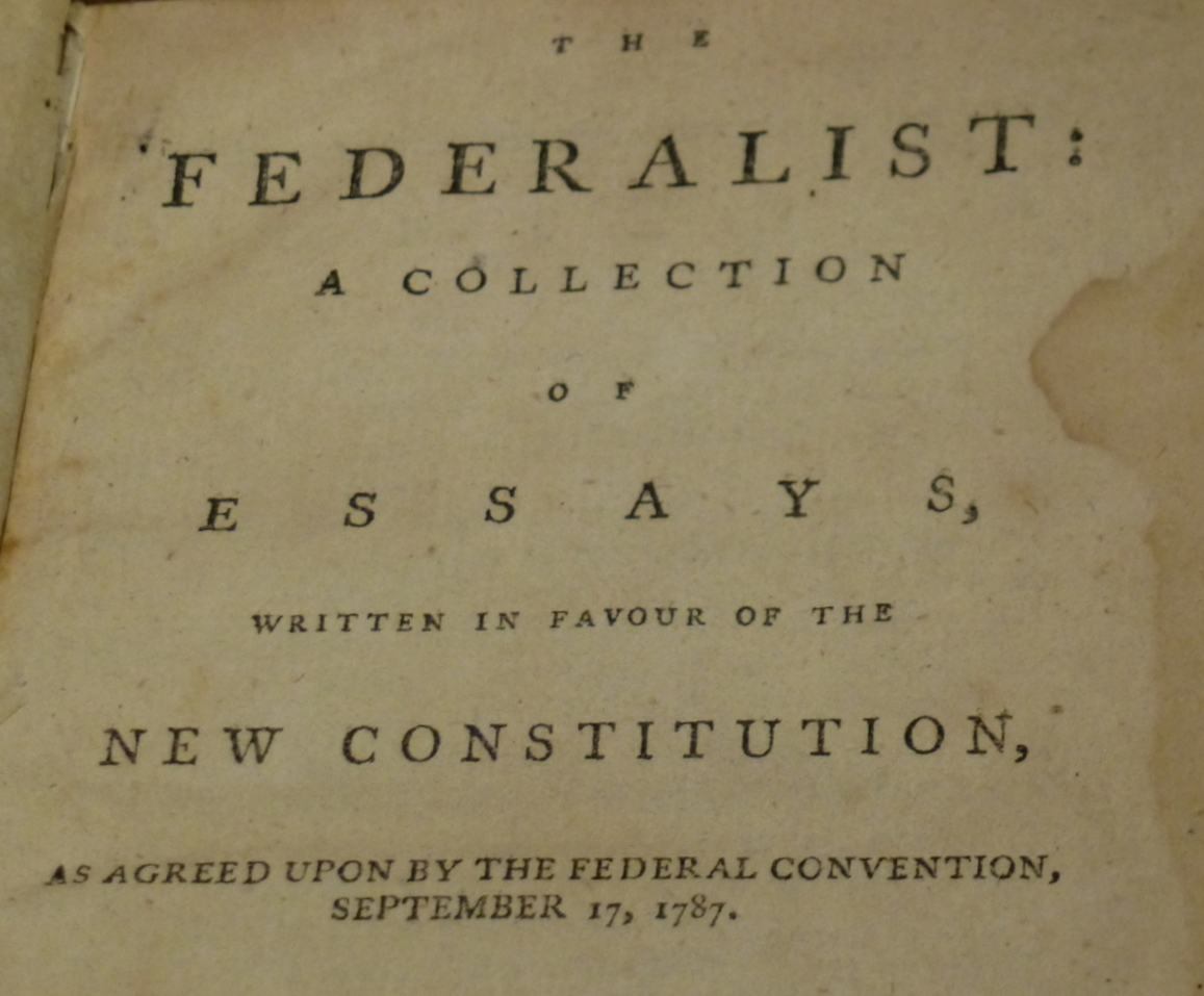 The Federalist Papers...Thanks to Alexander Hamilton
